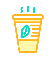 Tea smell color icon line vector