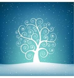 The snow tree vector image