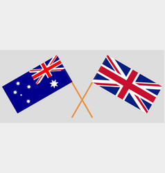 The uk and australia british and australian flags vector