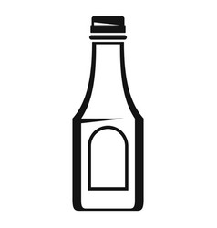 Tomato ketchup bottle icon simple style vector