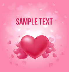 valentines day amorous poster vector image