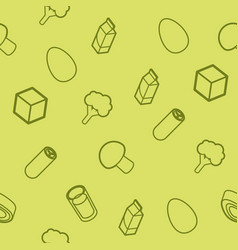 vegeterian outline isometric pattern vector image
