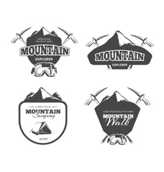 Vintage mountain camping mountaineering vector