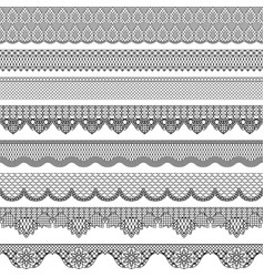 Vintage seamless border with lace texture vector