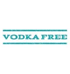 Vodka Free Watermark Stamp vector image