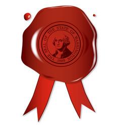 Washington state wax seal vector