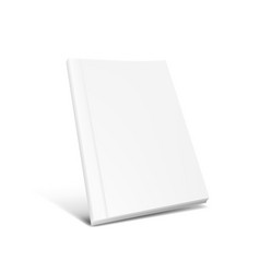 White clear magazine or book cover on white vector