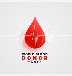 World blood donation day concept poster with vector