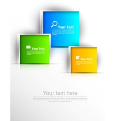 Abstract template with squares vector image