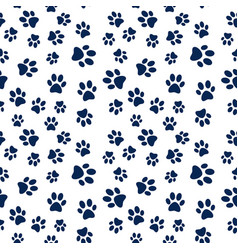 animal footprint seamless pattern vector image vector image