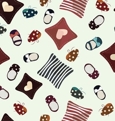 childrens seamless pattern vector image
