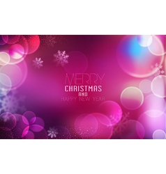 Christmas and New Year Bright festive background vector image vector image