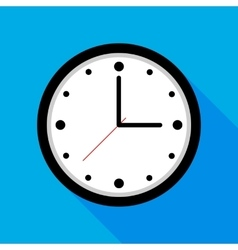 Clock icon flat design with vector image vector image
