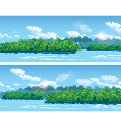 estuary a large tropical river vector image vector image