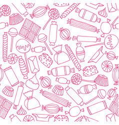 hand drawn candy seamless pattern vector image vector image