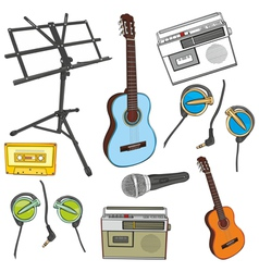 music items vector image