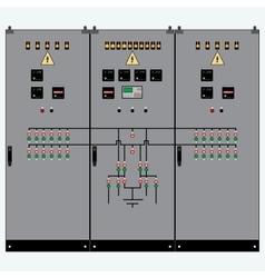 Transformer electric shield vector image vector image