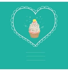 with the image of a cake in a frame vector image