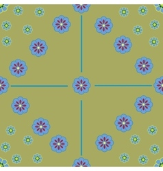 Flower seamless pattern 2-08 vector image vector image