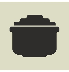 Stylized shiny cartoon pot of gold vector image