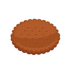 biscuits with pieces of chocolate and caramel vector image vector image