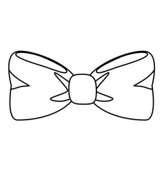 bow tie isolated vector image