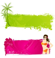 color grunge vector image vector image
