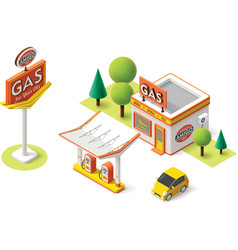 gas filling station vector image vector image