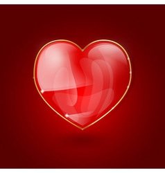 glass heart vector image vector image
