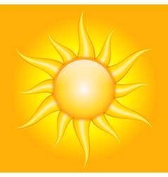 orange background with sun vector image