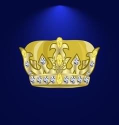 Tiara with precious stones 2 vector