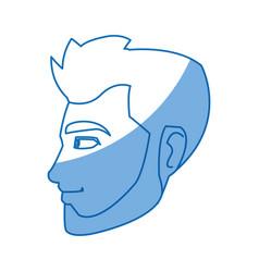 cartoon character man young person vector image