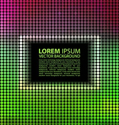 Green abstract banner halftone square vector