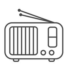 Radio receiver linear icon vector
