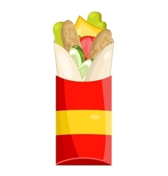 Tasty Burrito on white background vector image