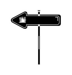 traffic signal arrow guide vector image vector image
