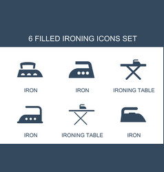 6 ironing icons vector
