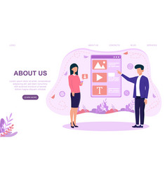 About us company and business information page vector