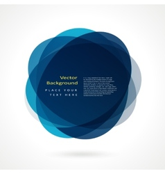Abstract circle frame vector