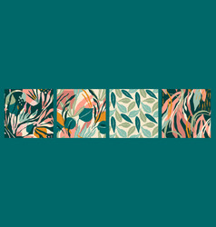 Abstract collection seamless patterns with vector