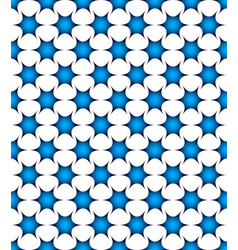 Abstract spiky blue shapes seamless pattern vector