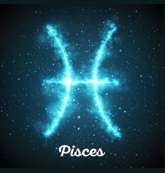Abstract zodiac sign pisces on a vector