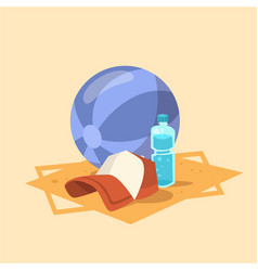 Ball cap icon summer sea vacation concept vector