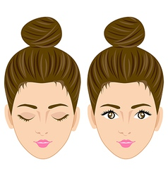 Beautiful women face vector