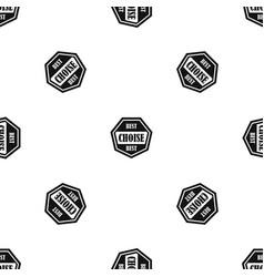 Best choise label pattern seamless black vector