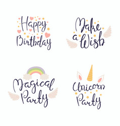 Birthday quotes set vector