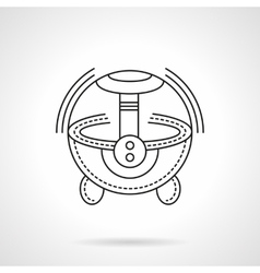 Black flat line humidifier icon vector