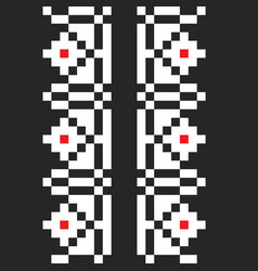 Black traditional pattern vector