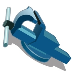 Blue vise on a white background vector image