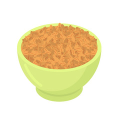 Bowl of wheat cereal isolated healthy food for vector